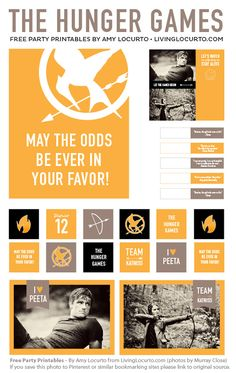 Hunger Games Party Theme Printables!
