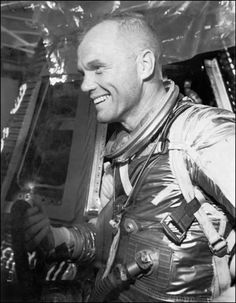John Glenn Becomes First Man To Orbit Earth 3 Times- I remember watching this in the school auditorium  on a 32in. black and white TV on the stage. It was so exciting!!