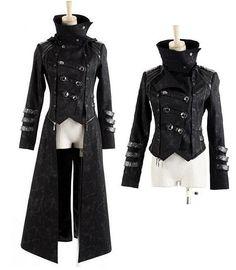 Jacke Mantel Kapuze Visual Kei Punk Rave Rock Gothic Jacket lang kurz neu Top Gr. XXL(Herren): Amazon.de: Bekleidung