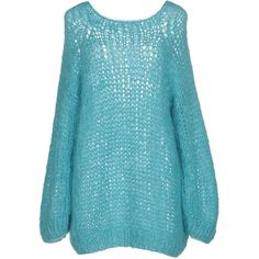 Maiami Jumper ($190) ❤ liked on Polyvore featuring tops, sweaters, turquoise, long sleeve tops, long sleeve jumper, long sleeve sweater, jumper top and blue long sleeve top
