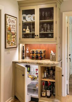 Small Home Bar Ideas With White Cabinet Refrigerator Mini Fridge Beer