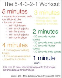 Who knew that you could do so much in just five minutes! #WorkoutWednesday #FitCitySA #VegOutSA