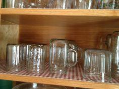 Repurposing jam jars for juice glasses!!