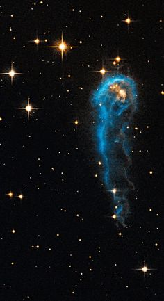 The caterpillar-shaped knot, called #IRAS20324+4057, is a #protostar in a very early evolutionary stage. It is still in the process of collecting material from an envelope of gas surrounding it. The object lies 4,500 light-years away in the constellation Cygnus. - http://www.nasa.gov/content/goddard/nasa-s-hubble-sees-a-cosmic-caterpillar/#.U_Ej7_l5OSr.
