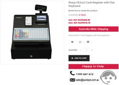 Get branded Sharp XEA217 Cash Register with Flat Keyboard at CHEAP prices @QuickPOS online store. We do sales across Australia (including Tasmania & Norfolk Island)..!  http://www.quickpos.com.au/xea217b-cash-register