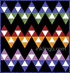 Electric Quilt 60 Degree Triangle Quilts on http://www.lindafranz.com/blog/electric-quilt-60-degree-triangle-quilts/