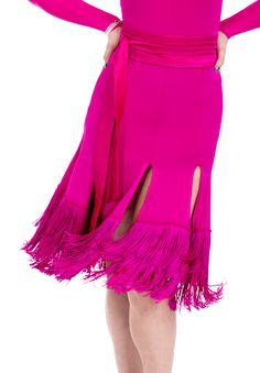 DSI Sabine Split Latin Skirt 3344 | Dancesport Fashion @ DanceShopper.com