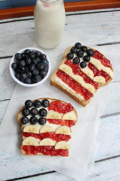 Show off your patriotic pride with playful food creations that are deceptively simple.