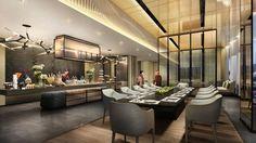 「four season seoul」的圖片搜尋結果 Modern Restaurant, Cafe Restaurant, Restaurant Design, Bar Lounge, Lounge Areas, Lobby Lounge, Dream Home Design, Home Design Plans, Commercial Kitchen Design