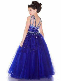 Girl Kids Pageant Dress Bridesmaid Dance Party Princess Ball Gown Formal Dresses #Dress