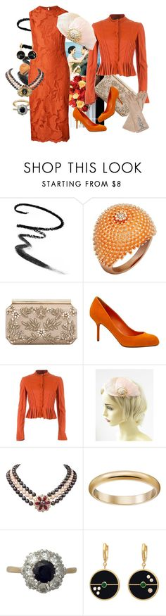 """""""20180211-4"""" by nanniehatter ❤ liked on Polyvore featuring Maybelline, Cartier, Oscar de la Renta, Sergio Rossi and Project Alabama"""