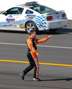 Tony Stewart points toward Jamie McMurray after being knocked into the wall at Talladega in 2007. Stewart has called out many drivers for reckless driving or being overaggressive. (David Noble/AP)