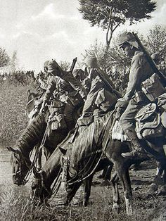 Imperial Japanese Army Cavalry in China.
