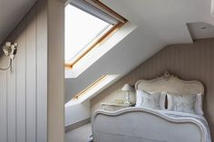 Modern Country Style: Swedish/French Style Victorian House Tour Click through for details. Loft Room, Bedroom Loft, Loft Wall, Master Bedroom, Home Design, Interior Design, Victorian Terrace, Victorian Homes, Modern Country Style