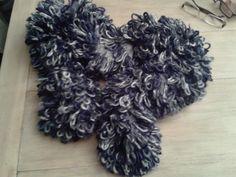 caldissima sciarpa sfumata blu/celestino
