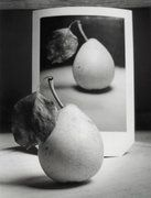 """Pear and Polaroid"" from photographer Andrew Sanderson. www.andrewsanderson.com Copyright Andrew Sanderson. Black and white, analogue, film, darkroom"