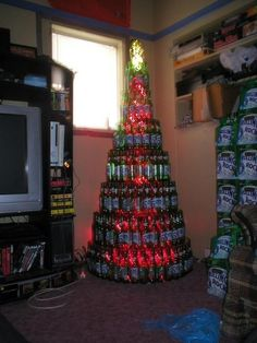 rolling rock christmas tree