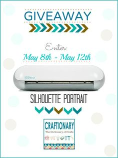 Silhouette Portrait Giveaway and Promotion Craftionary.net #silhouette #giveaway