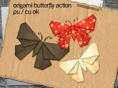 DIY Butterfly Origami - The Idea King