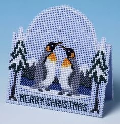 A delightful Christmas card, this 3D effect cross stitch kit is created by simple folding and cutting, no construction is required.Kit Contains: Sti...