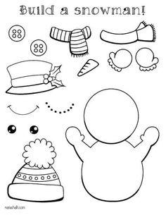Free Printable Snowman Templates