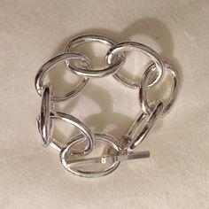 Silver chain bracelet Clasps with T post on the back side, great for anything! Jewelry Bracelets