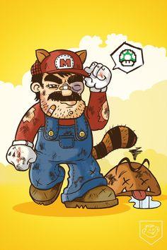 Mario, Super Mario Bros by Dennis Salvatier.