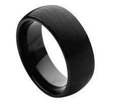 Free Engraving - 8mm Tungsten Carbide Black Enamel Domed Brushed Finish Wedding Band Ring For Men Or Ladies Free Laser Engraving Tungsten Rings http://www.amazon.com/dp/B016R5Q9KG/ref=cm_sw_r_pi_dp_w5szwb1DQVMX2
