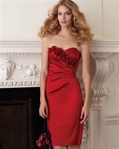 Gorgeous red bridesmaid dress