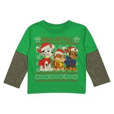 NICKELODEON PAW PATROL LONG SLEEVE HOLIDAY 2FER