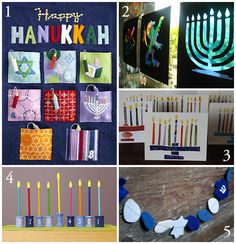 Hanukkah crafts - basically just taken from pinterest, but I like the felt candle countdown. RW 11/18/12