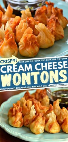 In search of party food? Thanks to these crispy bite-sized treats, entertaining can be done in a jiffy! Pepper Jack Chicken Cream Cheese Wontons are a cinch to put together. Plus, even your tween can help you make the filling ahead! Save this simple appetizer recipe! Easy Appetizer Recipes, Yummy Appetizers, Appetizers For Party, Cream Cheese Wontons, Cream Cheese Chicken, Unique Recipes, Great Recipes, Favorite Recipes, Family Recipes