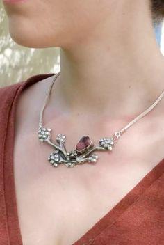 Rhodonite Necklace Silver Rhodonite Rhodonite Cabochon