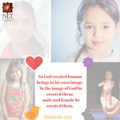 Daughters.  Created in God's image and loved unconditionally by Him...She is to be loved, protected nurtured, nourished, respected. ..#GirlChild #NationalGirlChildDay