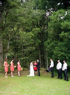 Rustic wedding ceremony in New Zealand