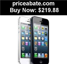 Cell-Phones: Apple iPhone 5 - 16GB - (Factory Unlocked) Smartphone - White or Black - BUY IT NOW ONLY $219.88