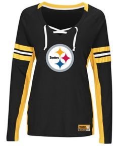 Majestic Women s Pittsburgh Steelers Winning Style Long Sleeve T-Shirt -  Black Gold S d13a26383