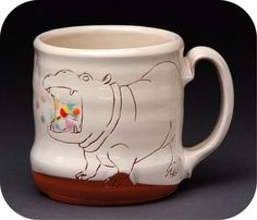 hungry hippos mug, so so adorable