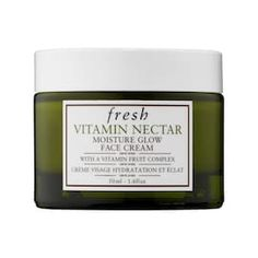 Fresh's Vitamin Nectar Moisture Glow Face Cream at Sephora. The lightweight moisturizer is enriched with vitamins for a healthy-looking glow. Sephora, Homemade Face Masks, Homemade Skin Care, Makeup Tricks, Maskcara Makeup, Eye Makeup, Vitamin C, Psoriasis Treatment Cream, Cream For Oily Skin