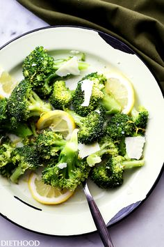Garlicky Lemon-Parmesan Broccoli - A quick, healthy, delicious, and EASY side…