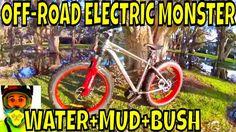 Testing Bafang BBSHD 1000w motor in water, mud, bush • Electric Fat Bike Off-Road MONSTER. ElectricBike.