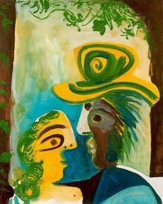 Pablo Picasso. Homme et femme [Couple]. 1970 year