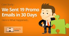[Case Study] 20 Promo Emails to Our List in 30 Days, Here is What Happened - Authority Hacker Marketing Case Study, Email Marketing, Affiliate Marketing, Growth Hacking, Email Campaign, Email List, 30 Day, Author, Shit Happens