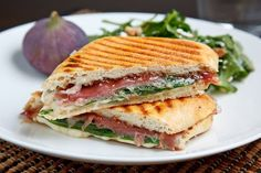 Fig and Prosciutto Grilled Cheese Sandwich - perfect blend of salty, creamy, sweet and crunchy