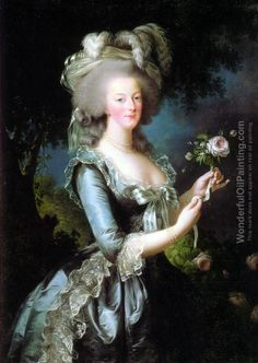 Louise Elisabeth Vigee-Lebrun's oil painting Queen Marie Antoinette of France, daughter of Empress Maria Theresia of Austria and Franz I. Stephan of Lorraine, wife of King Louis XVI. of France, 1783, Versailles