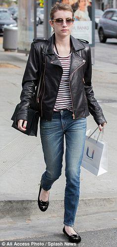 emma roberts + jacket