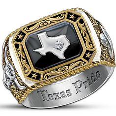 Spirit Of Texas Diamond Men's Ring