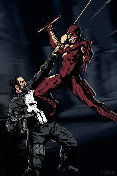 ArtStation - Daredevil vs. Punisher, Tyler Breon