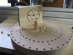 Wooden Models #166: Mag Wheel Making Jig - by htl @ LumberJocks.com ~ woodworking community Wooden Toy Wheels, Wooden Toy Trucks, Wooden Plane, Corn Bags, Making Wooden Toys, Bird Mobile, Wood Toys Plans, Make Up Your Mind, Shop Plans
