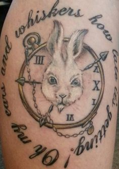 My White Rabbit tattoo!...Alice in Wonderland